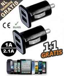 Universele USB Adapter 1+1 GRATIS