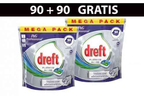 Mega Pack Dreft Vaatwastabletten - 90 + 90 Gratis van Goedkoper