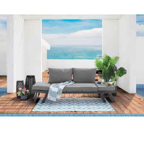 Garden Lounge Hoekbank Russi Met Salontafel van Homehaves