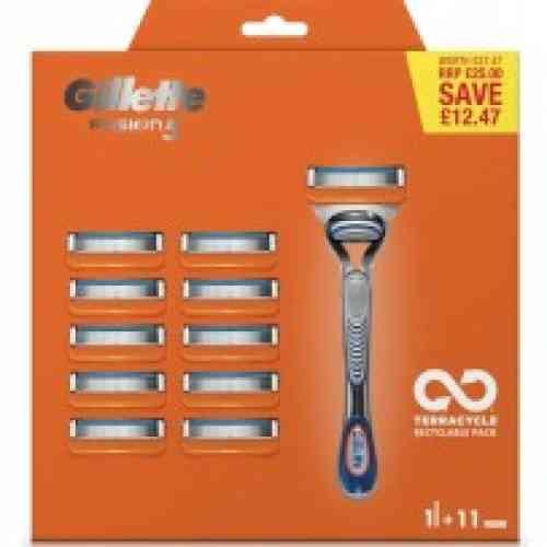 Gillette Combi Scheermesjes Fusion 16 Stuks = 2 X 8 Mesjes van Shavesavings